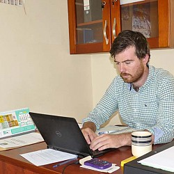 Devenish's Country Manager for Uganda, Adam Sweetman hard at work