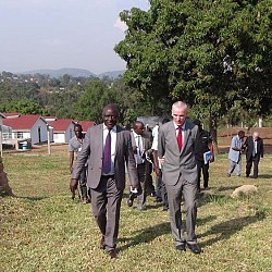 Honourable Vincent Ssempijja, Minister of Agriculture, Animal Industry and Fisheries with His Excellency Donal Cronin, Irish Ambassador to Uganda