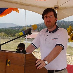 Adam Sweetman, Country Manager for Uganda speaking at the Official Launch