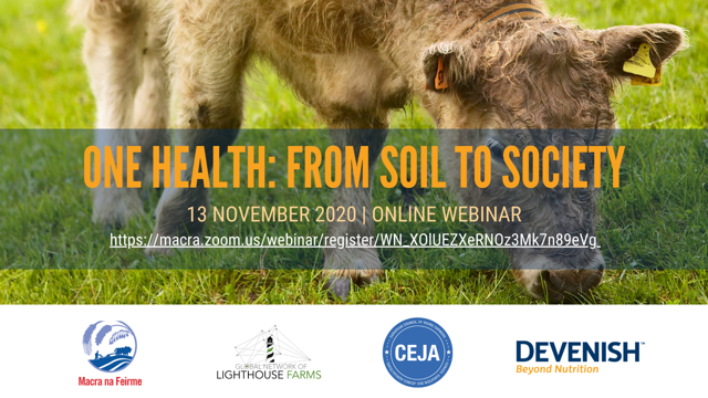 """One Health: from Soil to Society"" webinar"